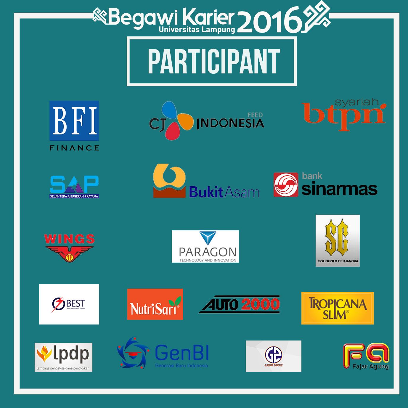 Perusahaan yang dipastikan hadir di Begawi Karier 2016